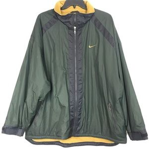 MEN'S NIKE GREEN BLACK LINED JACKET XXL ,